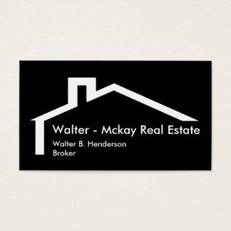 Propiedades inmobiliarias modernas tarjeta de visita