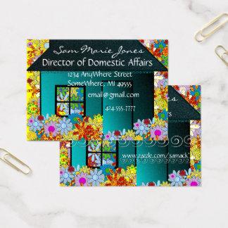 Propiedades inmobiliarias o ama de casa tarjeta de negocios