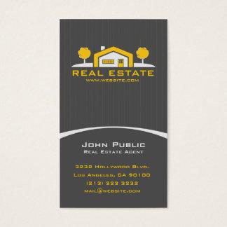 Propiedades inmobiliarias profesionales elegantes tarjeta de negocios