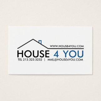 Propiedades inmobiliarias profesionales simples tarjeta de negocios