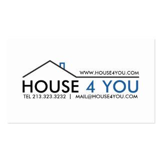Propiedades inmobiliarias profesionales simples tarjetas de visita