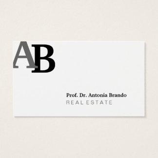 Propiedades inmobiliarias puras tarjeta de visita