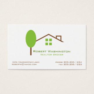 Propiedades inmobiliarias tarjeta de negocios