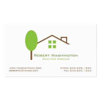 Propiedades inmobiliarias tarjeta de visita