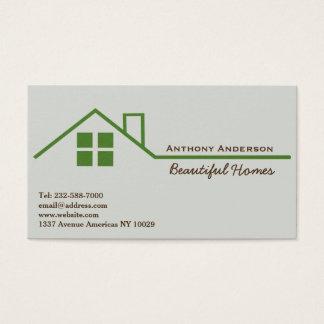 Propiedades inmobiliarias y edificio tarjeta de visita
