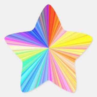 Propósito multi Escribir-en arte de papel Pegatina En Forma De Estrella