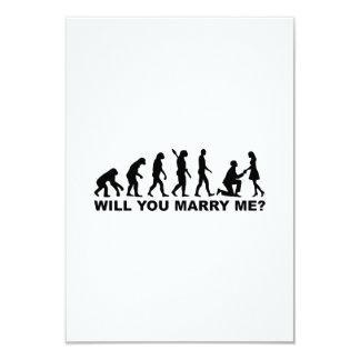Propuesta de matrimonio del boda de la evolución comunicado personal