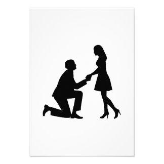 Propuesta de matrimonio del boda invitacion personal