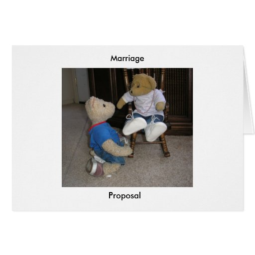 Propuesta de matrimonio tarjeta