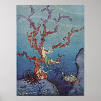 Proserpina y las ninfas de mar póster