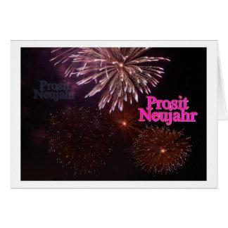 Prosit año nuevo tarjeta de felicitación