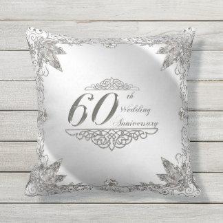 Prospere la 60.a almohada de tiro del aniversario