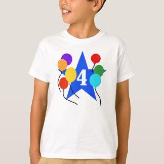 Protagonice el 4to cumpleaños camiseta