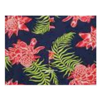 Protea (impresión de la hawaiana del vintage) postal