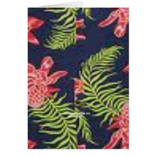 Protea (impresión de la hawaiana del vintage) felicitacion