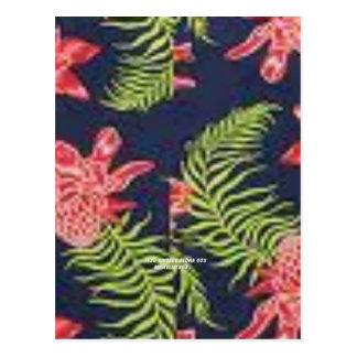Protea impresión de la hawaiana del vintage postales