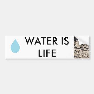 Protección de agua - el agua es vida pegatina para coche