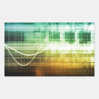 Protección de datos y exploración de la seguridad pegatina rectangular