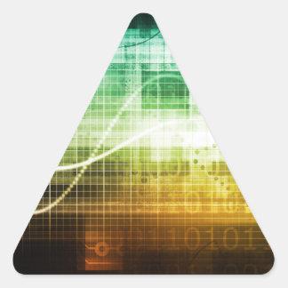 Protección de datos y exploración de la seguridad pegatina triangular