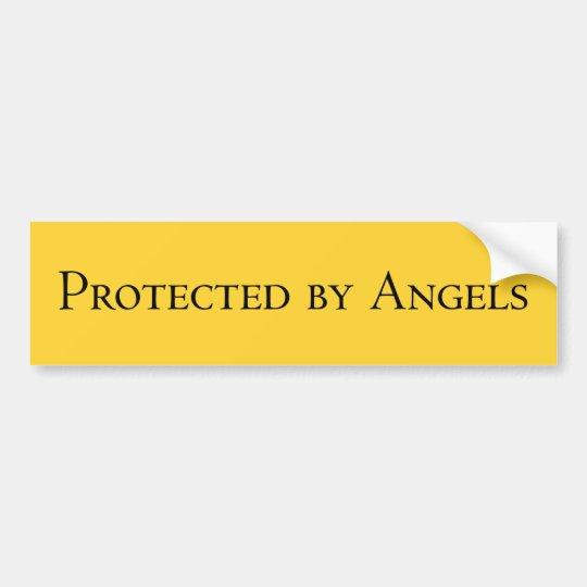 Protegido por los ángeles #2 pegatina para coche