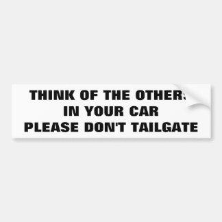 Proteja a su familia no hacen puerta posterior pegatina para coche