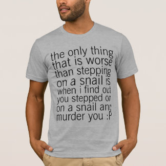 proteja los caracoles camiseta