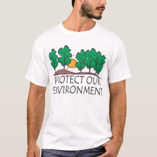 Proteja nuestro ambiente camiseta
