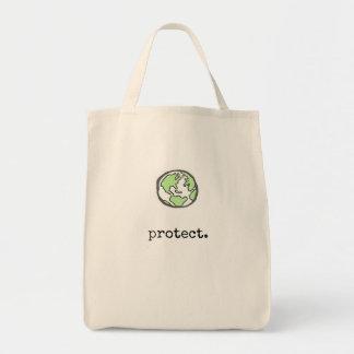 Proteja nuestro planeta bolso de tela