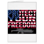 Proteja su libertad felicitacion