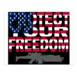 Proteja su libertad tarjetas postales