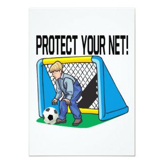 Proteja su red invitación 12,7 x 17,8 cm
