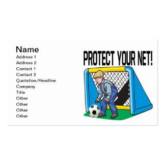 Proteja su red tarjetas de visita