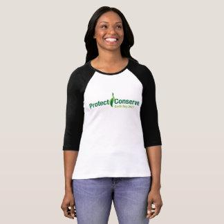 Proteja y conserve 2017 camiseta