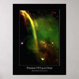 Protostar HH34 cerca de Orión - astronomía del esp Impresiones