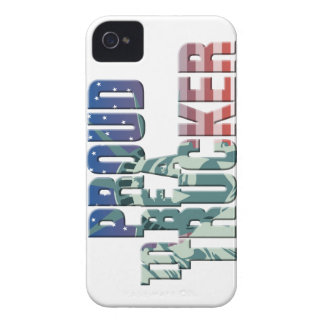 proud to a Usa trucker flag trucker Case-Mate iPhone 4 Carcasa
