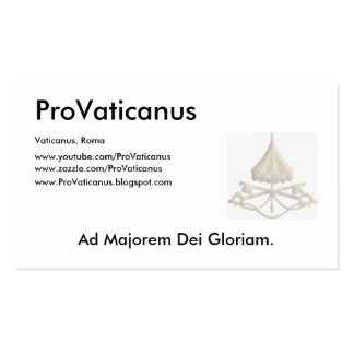 ProVaticanus Schedula Tarjeta Personal