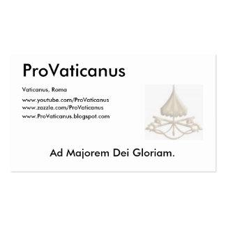 ProVaticanus Schedula Tarjetas De Visita