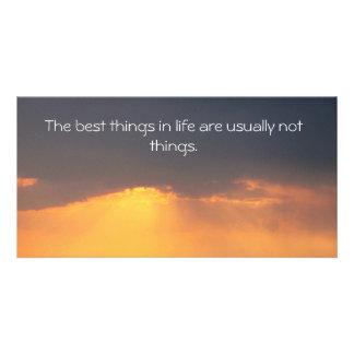 Proverbio budista plantilla para tarjeta de foto