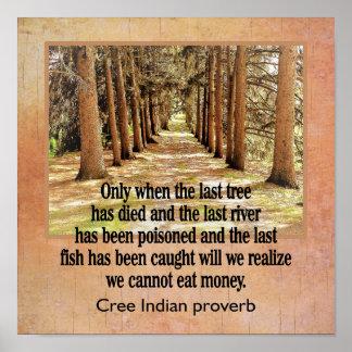 Proverbio del indio del Cree --- impresión del