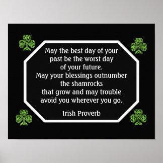 Proverbio irlandés - el mejor día -- Impresión del