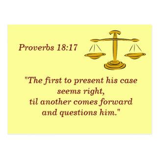 Proverbios 18 tarjeta de memoria de 17 escrituras