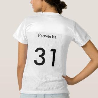 Proverbios 31 del Jesucristo del equipo Camiseta De Fútbol Americano Para Mujer
