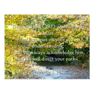 Proverbios 3, confianza 5-6 con su tarjeta del