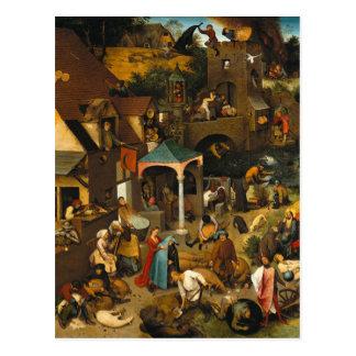 Proverbios de Netherlandish de Pieter Bruegel la Postal
