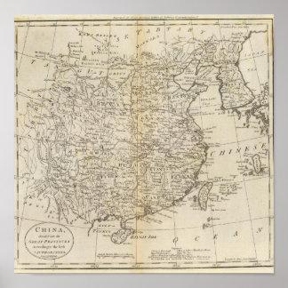 Provincias de China Póster