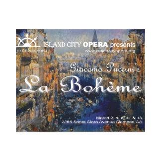 Proyección Canva del título de Boheme del La de la Lienzo