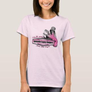 Proyecto del cáncer de pecho del interruptor del camiseta