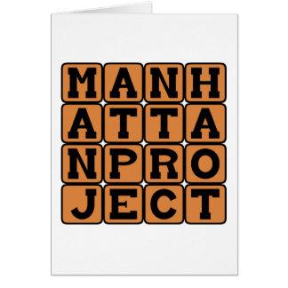 Proyecto Manhattan proyecto secretísimo WW2 Felicitacion