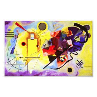 Proyecto original rojo amarillo de Kandinsky Impresión Fotográfica