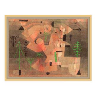 Proyecto para un jardín de Paul Klee Postal